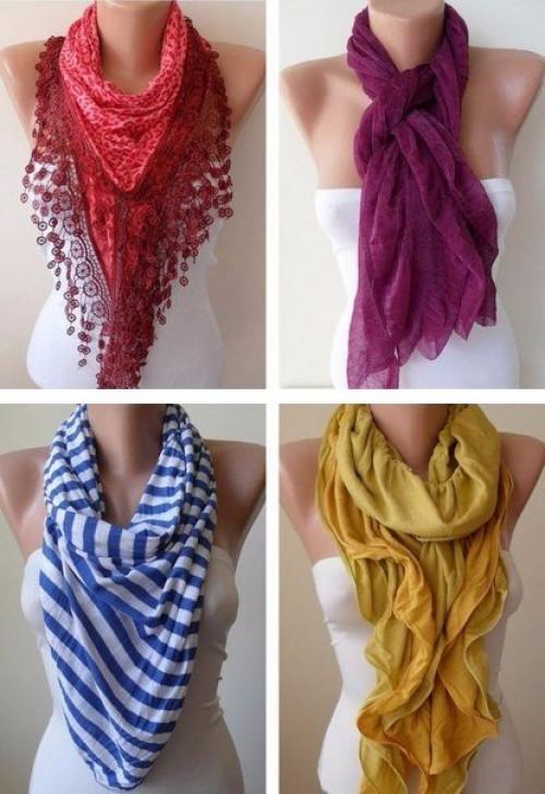 Как стильно завязать шарф видео