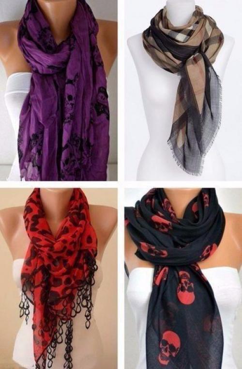 Завязать красиво шарф женский