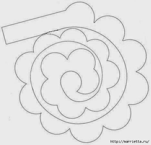 Розы из фетра своими руками схемы шаблоны 50
