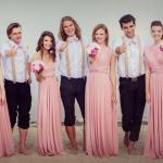 Проект Европейская Свадьба, организаторы проекта Вечерние платья Lovely, платья-трансформеры.