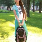 Участница конкурса «Зірка Kite» - Александра.