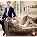 Бенедикт камбербэтч и Лидия хёрст в журнале Marie Claire UK, 2010.