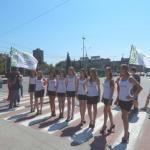 """Сегодня общественная организация """"Форпост"""" и служба аварийных комиссаров альянс провели специальные мероприятия в рамках """"дня пешехода""""."""