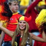 17-летняя болельщица сборной Бельгии Аксель Деспигелере заключила контракт с модельным агентством благодаря ЧМ-2014.