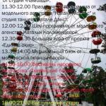 Праздничная программа на день города, 26 мая, в городском парке.